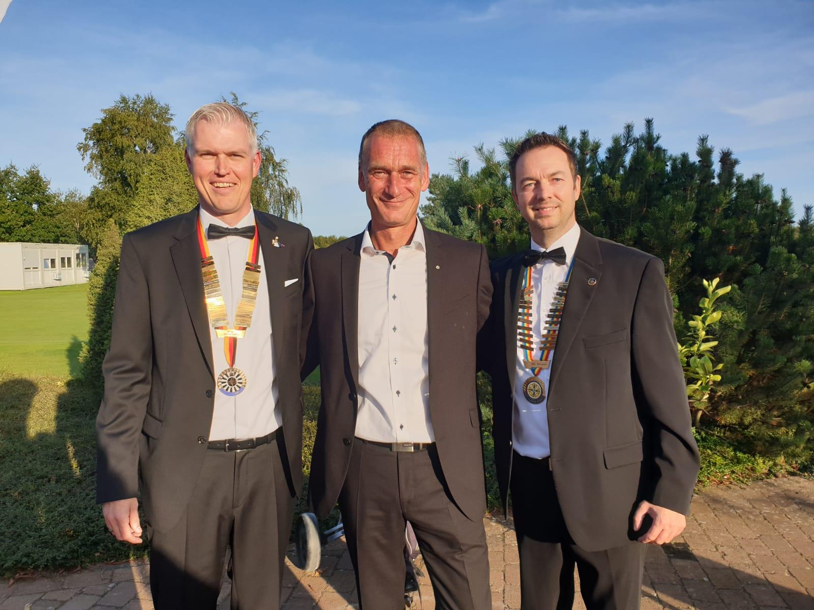 v.l. Oliver Stein (amtierender RT Präsident) Arne Sellmer (Chef Organisator), Marco Stelle (Präsident des OT)
